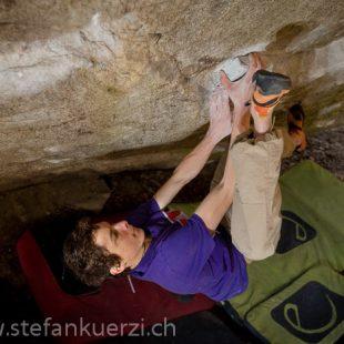 Fabian Buhl en Dreamtime 8C de Cresciano  (Stefan Kürzi / www.stefankuerzi.ch)