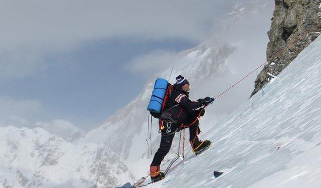 Maciej Berbeka durante la expedición invernal al Broad Peak 2013  (Adam Bielecki)