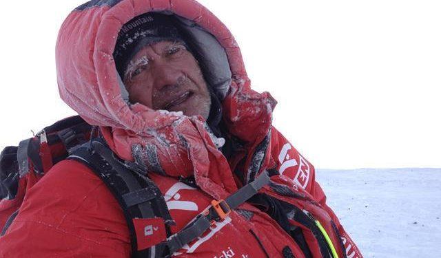 Maciej Berbeka durante la expedición invernal al Broad Peak 2013  (Tomasz Kowalski)