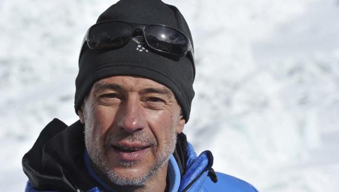 Nacho Orviz en el campo base el Everest (2011).  ()