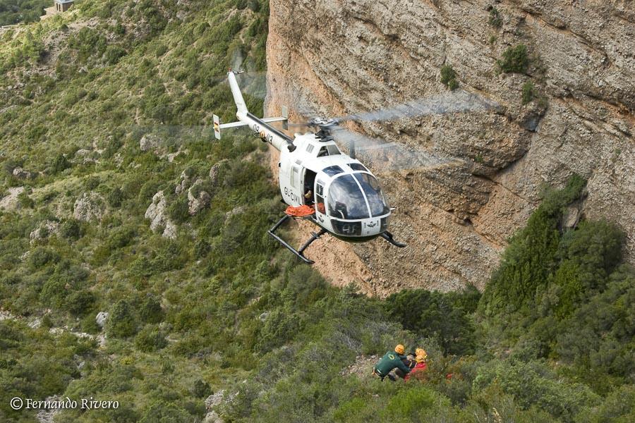 El Grupo de Salvamento en Montaña en alerta máxima