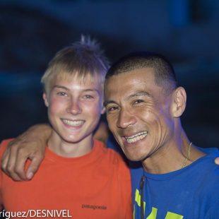 Alexander Megos y Yuyi Hirayama en Kalymnos. The North Face Kalymnos Climbing Festival 2012  ()