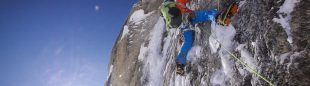 David Lama en Bird of prey al Mooses Tooth (Alaska)  (Col. D. Lama)