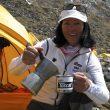 Rosa Fernández en el campo base del Annapurna