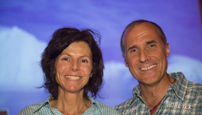 Gerlinde Kaltenbrunner y Ralf Dujmovits en el IMS 2012.  ()