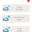 App ZonasdeEscalada.com. Pantalla de búsqueda de zonas