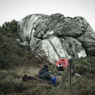 Momento del rodaje Finisterre Bouldering on a shrinking Globe  ()