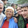 """Ramón Julián """"Ramonet"""" en Campeonato Mundo Arco 2011 con sus padres y novia.  (Darío Rodríguez/Desnivel.com)"""