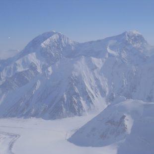 Panorámica impresionante durante la ascensión en solitario de Samuel Johnson a la cara sureste del Mt. Hayes (Alaska)  (Samuel Johnson)