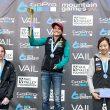 Podio femenino de la Copa del Mundo de Búlder 2013 de Vail (Colorado