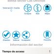 App ZonasdeEscalada.com. Pantalla de detalles del sector
