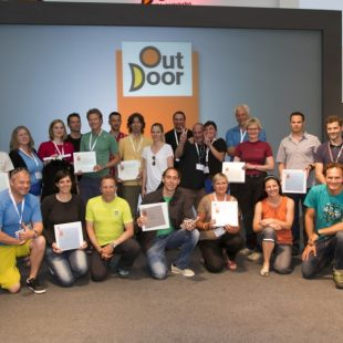 Ganadores del Outdoor Gold 2013 durante la ceremonia de entrega de premios  ()