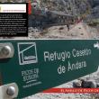 Cartel en las inmediaciones del Casetón de Andara