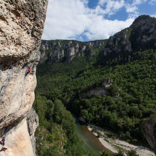 Said Belhaj en el Roc Trip Gorges du Tarn 2013  (Laurent de la Fouchardière)