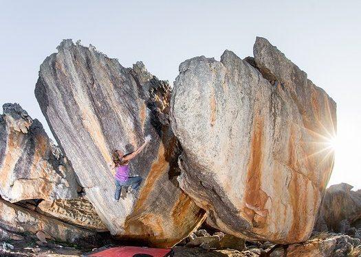 Anna Stöhr en The power of one 8B en Rocklands (Sudáfrica)  (Reinhard Fichtinger / La Sportiva)