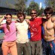 Los equipadores del Campeonato España Escalada en Bloque 2013. De izda a derecha: Berta Martín