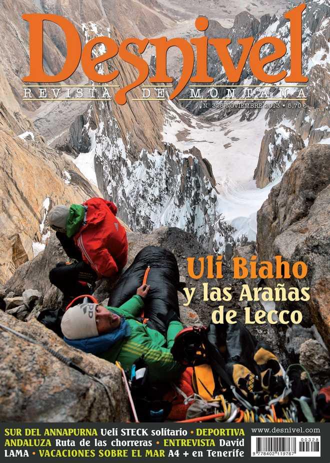 Portada de la revista Desnivel nº 328. Noviembre 2013. [WEB]  ()