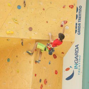 Lluc Macià compitiendo en la modalidad de dificultad - Arco Rock Junior 2013  ()