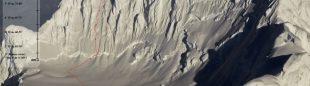 Línea de Suerte de Sarmiento a la cara norte del Monte Sarmiento  (Marcelo Arévalo)