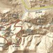 Mapa del recorrido de la ruta de la Cervatina  ()