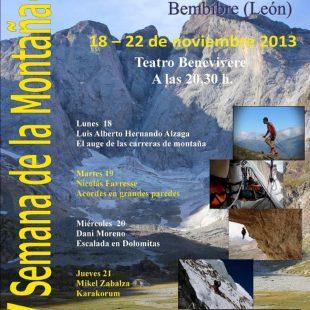 Cartel de la XV Semana de la Montaña en Bembibre (León) ()