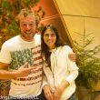 El saltador base Alexander Polli y SIlvia Vidal. International Mountain Summit 2013.  ()