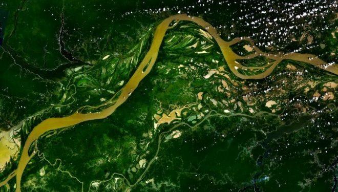 Imagen satélite del Río Amazonas  ()