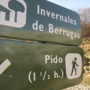 Carteles en la pista que une los valles de Liébana y Valdeón.  (Darío Rodríguez)