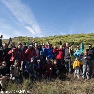 Participantes en la excursión con Leo Houlding y Carlos Suárez en el European Mountain Meeting 2012