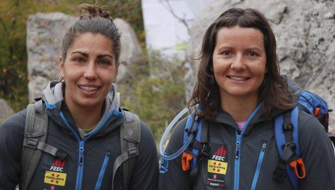 Fiona Pujol y Anna Bonet. Mountaineering World Championship 2013 en Crimea.  (Rafa Vadillo)