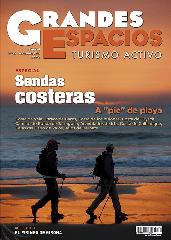 Portada de la revista Grandes Espacios nº 193. Especial Sendas Costeras. [WEB]  ()