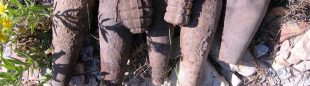 Granadas de mortero y de mano encontrados por el vecino de Alfondeguilla.  (Guardia Civil)
