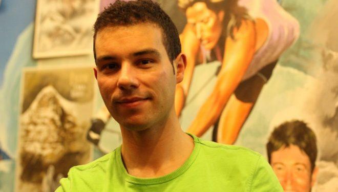 Juan Menéndez Granados en la Librería Desnivel.  (Irene Montero)