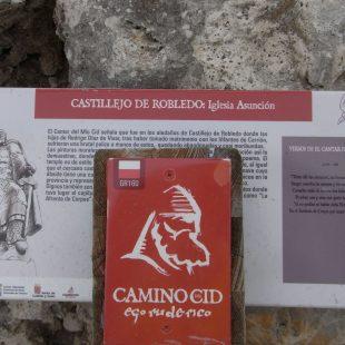 Panel del Camino del Cid en Castillejo de robledo.  (Dioni Serrano)
