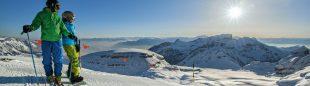 Esquiando en Suiza.  (Turismo Suiza)