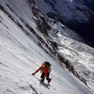 Ueli Steck en la cara sur del Annapurna.  (Colección Ueli Steck)