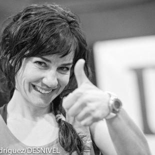 Teresa Troya en la tercera prueba del Campeonato de España de Bloque 2013 celebrada en Naturiva (Ifema
