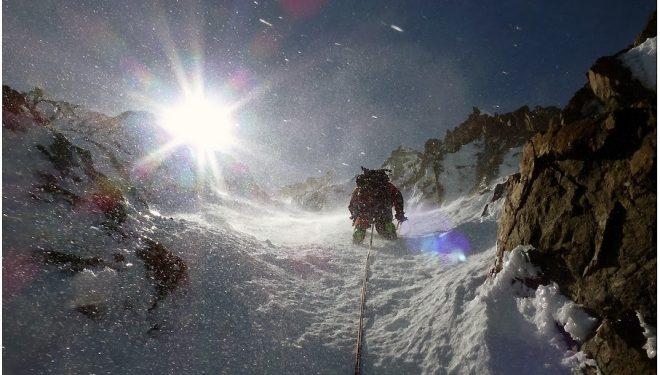 Marco Poblete y Harry Brito abren en un cerro sin nombre de la Patagonia chilena (Marco Poblete)