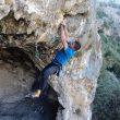 Edu  Marín en la Vía de la Luly 8b sector La Cueva (Jordania)  (CTAC)