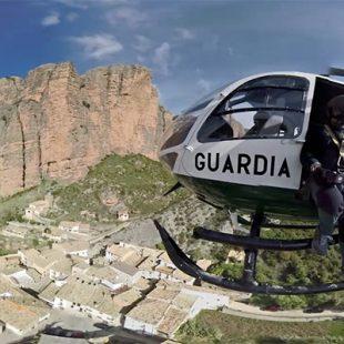 Operación de rescate de la Guardia Civil en Riglos.  (Ignacio Ferrando)