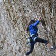 Angie Scarth-Johnson (9 años) en Swingline 8b de Red River Gorge  (Climbing Anchors)