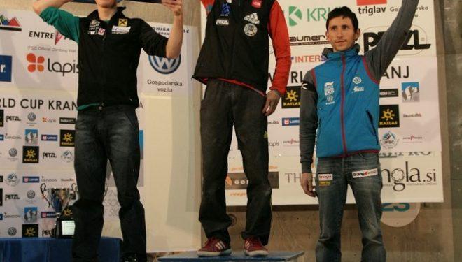 Podio masculino de la Copa del Mundo de Dificultad 2013: Jakob Schubert