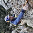 Iker Pou en la vía Tarragó de Montserrat.  (Jordi Canyigueral)