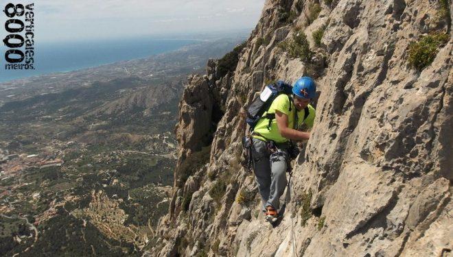 El proyecto 8.000 metros verticales en el Espolón Central del Puig Campana (Alicante)  (8000metrosverticales.binefar.es)