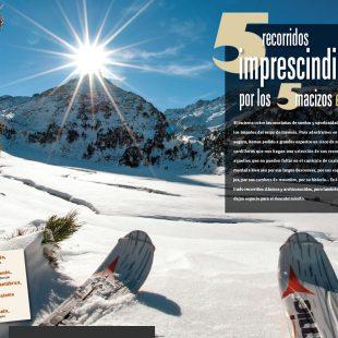 Apertura de artículo de 5 imprescindibles de esquí de montaña. Desnivel nº 330 Especial Invierno  ()