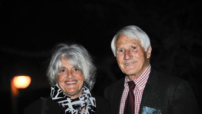 Walter Bonatti y Rossana Podestà en su segunda visita a la Librería Desnivel (2008)  ()