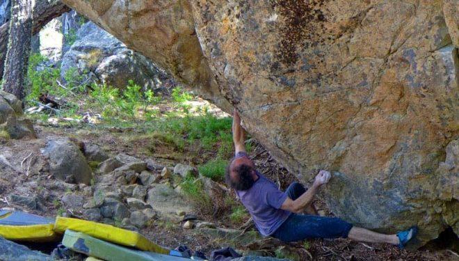 Fred Nicole en El galeón 8A de El Chaltén (Patagonia)  (Dörte Pietron)