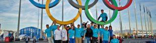 La familia olímpica de la escalada en hielo en Sochi 2014 (UIAA)