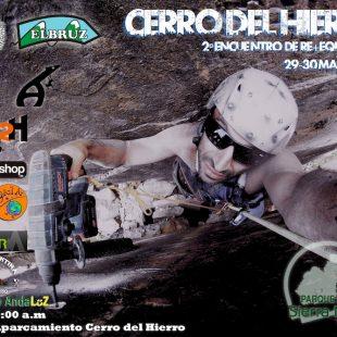 Cartel del 2º encuentro de re+equipamiento en Cerro del Hierro  ()