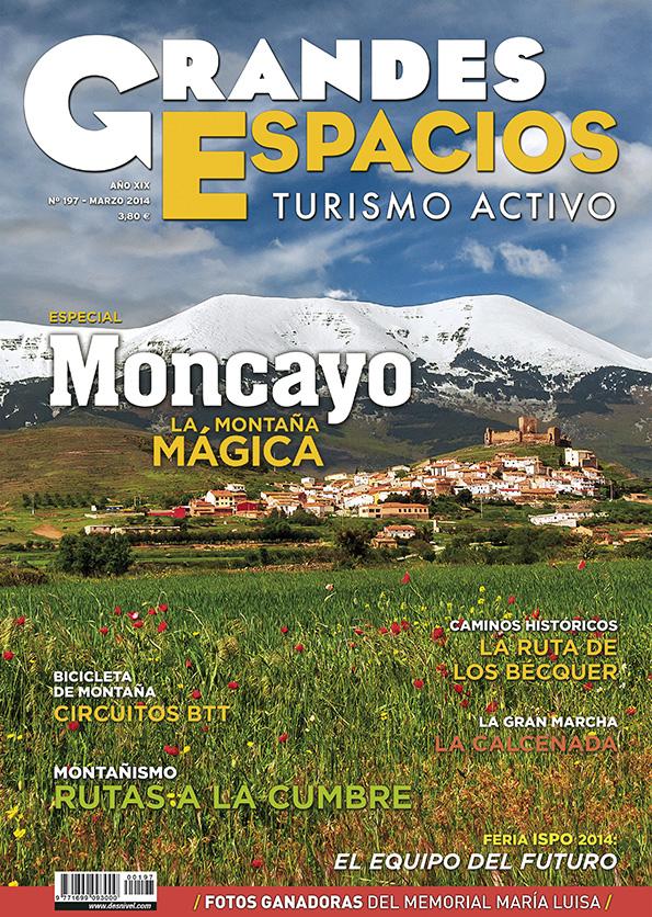 Portada de la revista Grandes Espacios nº 197. Especial Moncayo. Marzo 2014. [WEB]  ()